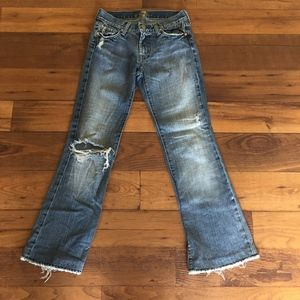 7 For All Mankind Distressed Flare Jeans Size 27